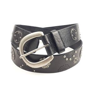 Fossil Boho Embellished Leather Belt